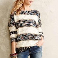 Confetti Striped Pullover by La Fee Verte Blue Motif