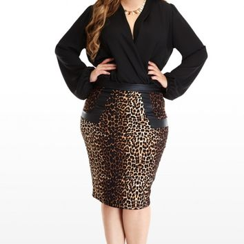 plus size leopard pencil skirt fashion from fashion to