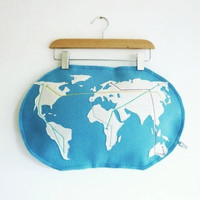 Made to order World metro map pillow by atelierpompadour on Etsy