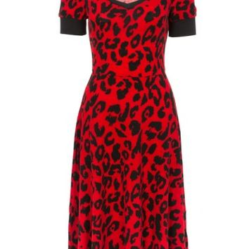 DRESS | Cherry Leopard