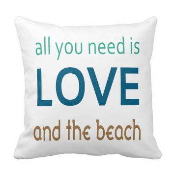 Love & Beach Pillow