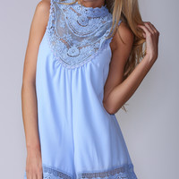 Begging For Thread Playsuit in Baby Blue