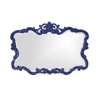 Royal Blue Baroque Mirror