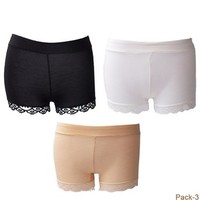 BXT® Ladies Free Size Superb Soft Stretchy Sexy Shorts Safety Boxer Briefs