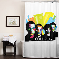 Coldplay Typography custom shower curtain