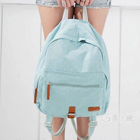 YESSTYLE: PG Beauty- Faux-Leather Trim Dotted Backpack (Green - One Size) - Free International Shipping on orders over $150