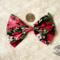 FABRIC BOW Craft Supplies for Hair Clip, Head Piece, Headband, Bow Tie, Scrapbook, Shoe Clip, Etc...
