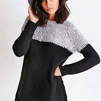 Silence + Noise Loopy Yoke Sweater- Black Multi