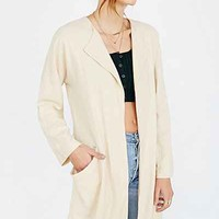 COPE Linen Drapey Blazer - Urban Outfitters