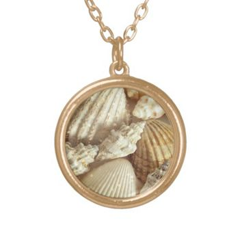 Beach Shells Still Life Photography Pendant
