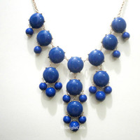 Bubble Necklace, Bubble Statement Necklace, Blue Bubble Necklace, J Crew Inspired, Blue, Navy,