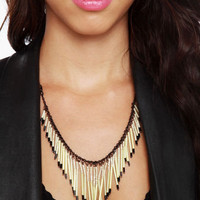 Cute Ivory Necklace - Beaded Necklace - $21.00