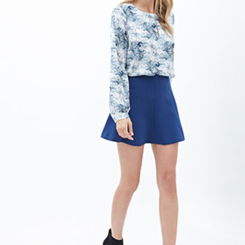Abstract Print Woven Blouse