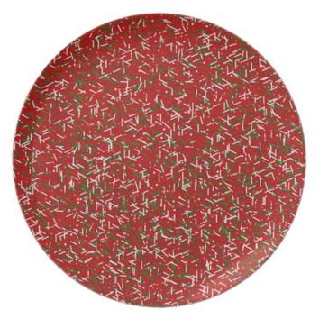 Candy Sprinkles with Polka dots Dinner Plate, Red