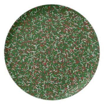 Candy Sprinkles with Polka dots Dinner Plate,Green