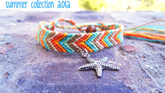Starfish Friendship Bracelet Boho Surf Style Beach Summer Collection 2012
