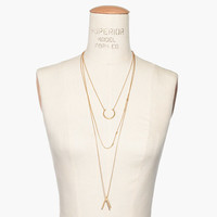 HALFMOON LAYERING NECKLACE