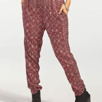 Billabong Night Ever After Womens Pants Maroon  In Sizes