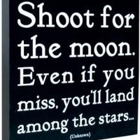 Quotable Canvas - Shoot for the moon | Pictures and Prints | Bloomsbury Store