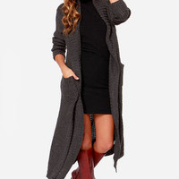 Wanted Thread or Alive Grey Oversized Sweater