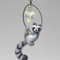 """fanART- """"Raccoons steal hearts"""" -unique, gift for her"""