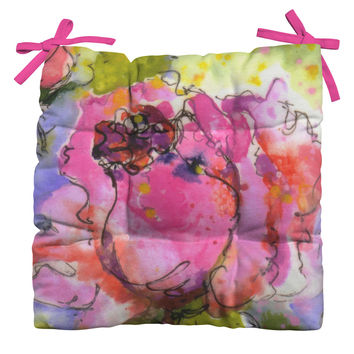 Ginette Fine Art Rose Bud Outdoor Seat Cushion