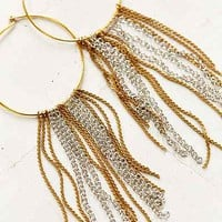 Sultry Chain Hoop Earring - Urban Outfitters