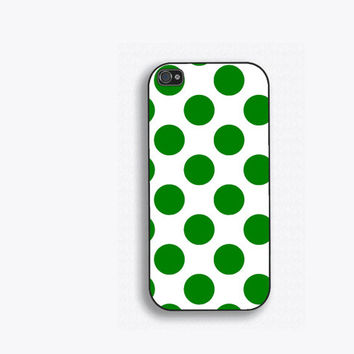 Green Polka Dots Phone Case, for iPhone 5, iPhone 5s, iPhone 5c, iPhone 4, iPhone 4s, Galaxy S3, S4 and S5. NM-130