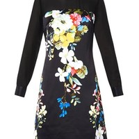 Onassis Velasquez Night-print silk dress