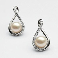pearl &amp; diamond earrings from RedEnvelope.com
