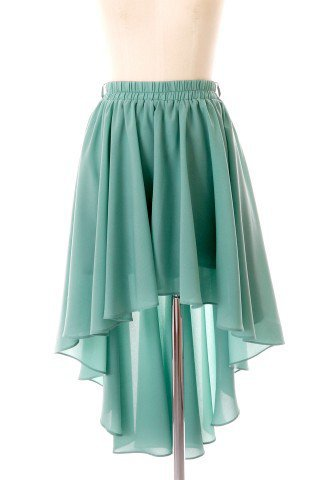 Asymmetric Waterfall Skirt in Mint - Back in stock - Retro, Indie and Unique Fashion