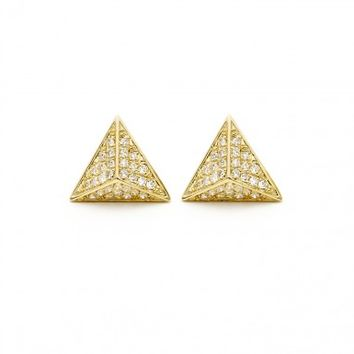 Triangle Stud Earring with Diamonds | Willow Roe | Goop.com