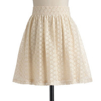 Tulle Clothing Saw It in a Cream Skirt | Mod Retro Vintage Skirts | ModCloth.com