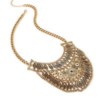 Mixed Chain Bib Necklace