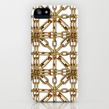 Chain Pattern Collage iPhone & iPod Case by Danflcreativo