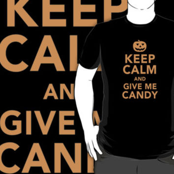 Limited Edition 'Keep Calm and Give Me Candy' Halloween T-Shirt