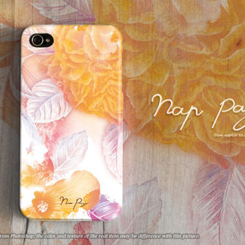 Apple iphone case for iphone 5 iphone 5s iphone 5c iphone 4 iphone 4s iPhone 6 iphone 6 plus : abstract yellow flowers