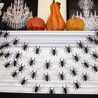 Halloween Spider Garland, Halloween Spider decorations, halloween banner, Black widow spider web, photo prop