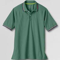 Men's Short Sleeve Performance Polo Shirt from Lands' End