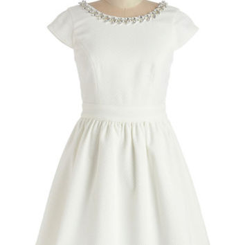 ModCloth Mid-length Cap Sleeves A-line Say Jewel Be There Dress