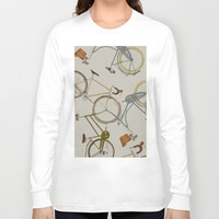 bicycles Long Sleeve T-shirt by Golden Boy