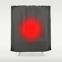 Red & Gray Focus Shower Curtain by 2sweet4words Designs | Society6