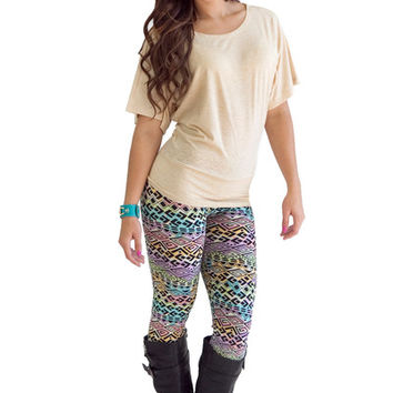 Leggings- So Soft Pastel Aztec