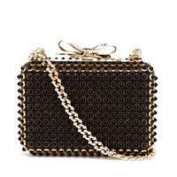 CHRISTIAN LOUBOUTIN | Fiocco Studded Box Clutch | Browns fashion & designer clothes & clothing