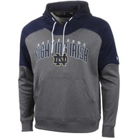 Men's Notre Dame Fighting Irish Under Armour Charcoal/Navy Blue Performance Hoodie