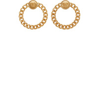 Gold Chain Medusa Wreath Earrings42404F084005