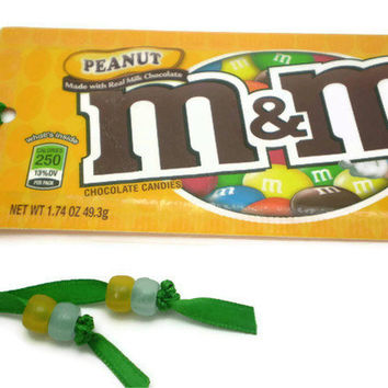 Peanut M&M Candy Wrapper Bookmark - Recycled/Upcycled