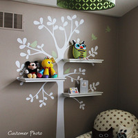 Wall Decals - The ORIGINAL Shelving Tree with Birds