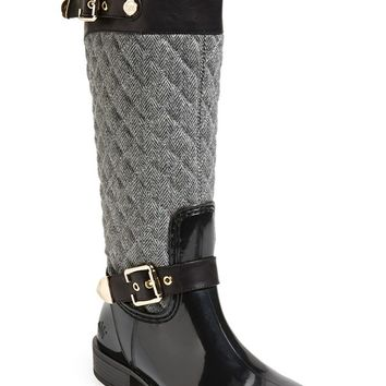 Posh Wellies 'Peacon' Quilted Tall Rain Boot (Women)