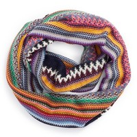 BP. Multi Stripe Knit Infinity Scarf (Juniors)